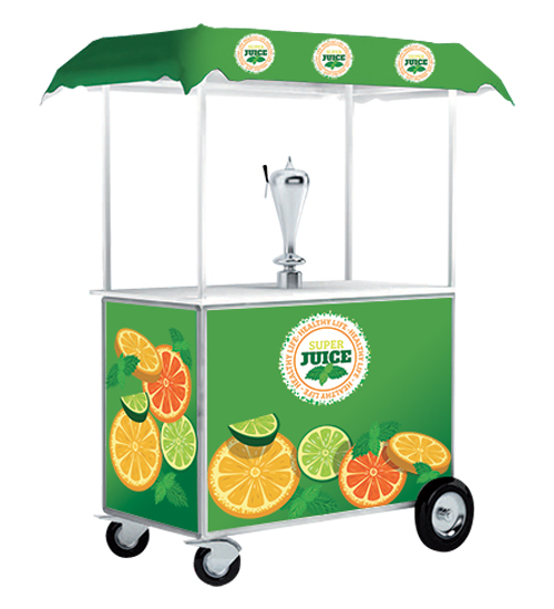 Comptoir promotionnel trolley avec distributeur