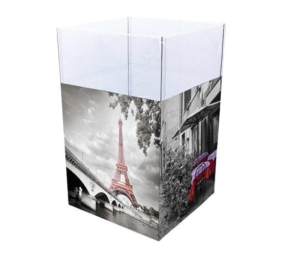 Bac carré promotionnel avec une large façade personnalisable